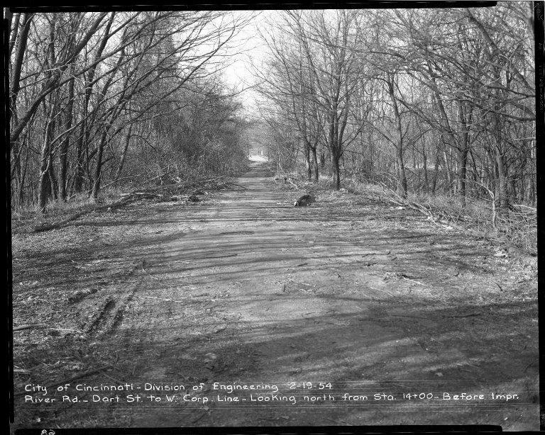 Street Improvement Photographs -- Box 52, Folder 02 (February 19, 1954) -- negative, 1954-02-19
