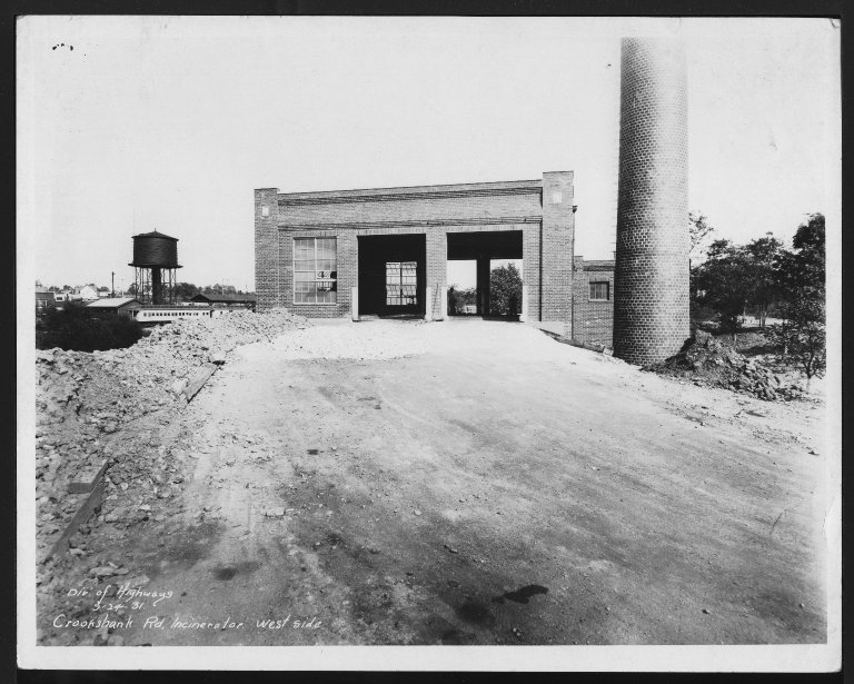 Miscellaneous Photographs -- Box 53, Folder 16 (Crook Shank Road Incinerator) -- print, 1931-09-24