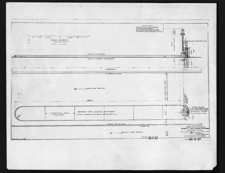 Miscellaneous Photographs -- Box 53, Folder 23 (Loading Platforms Diagrams) -- print, 1929-04-01