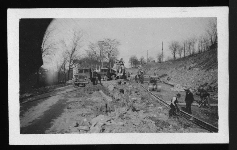 Miscellaneous Photographs -- Box 53, Folder 29 (Misc. Street improvements (small)) -- print, 1929-12-06