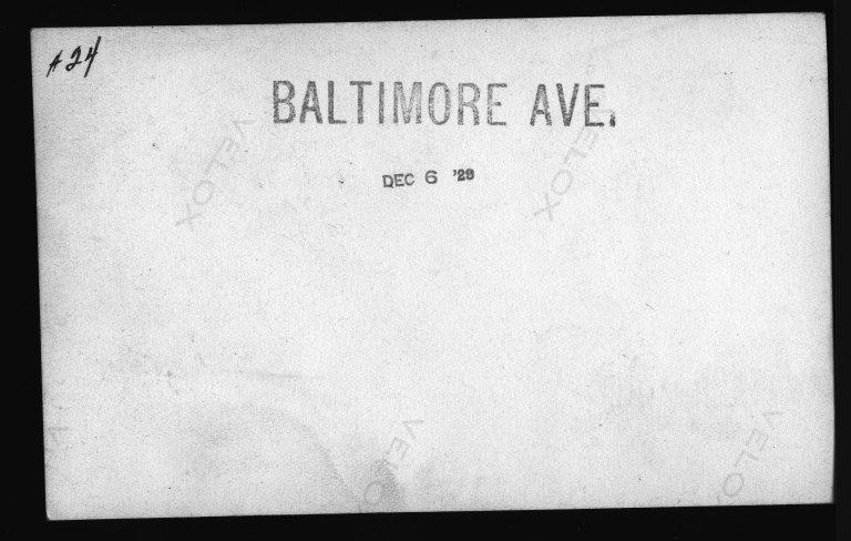 Miscellaneous Photographs -- Box 53, Folder 29 (Misc. Street improvements (small)) -- print, 1929-12-06 (back of photograph)