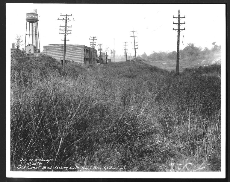 Miscellaneous Photographs -- Box 53, Folder 34 (Old Canal Bed) -- print, 1931-10-22
