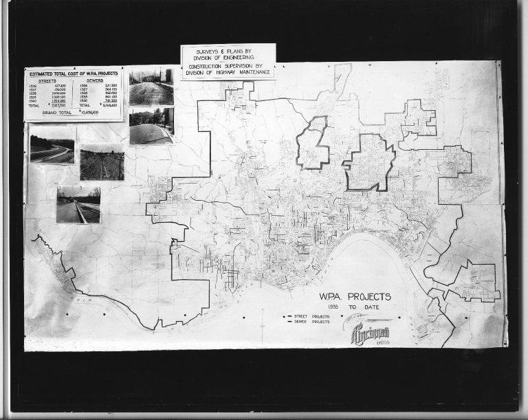 Miscellaneous Photographs -- Box 53, Folder 38 (WPA Projects Diagram, 1935) -- print, 1935