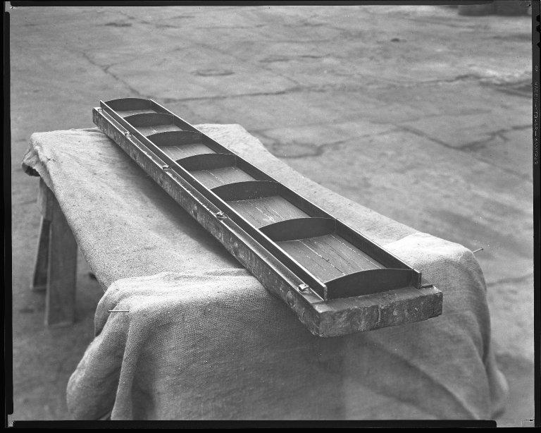 Miscellaneous Photographs -- Box 54, Folder 39 (Traffic Lane - White Concrete) -- negative, 1934