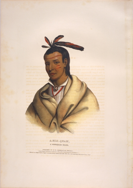 [History of the Indian Tribes of North America, A-mis-quam, a Winnebago brave]