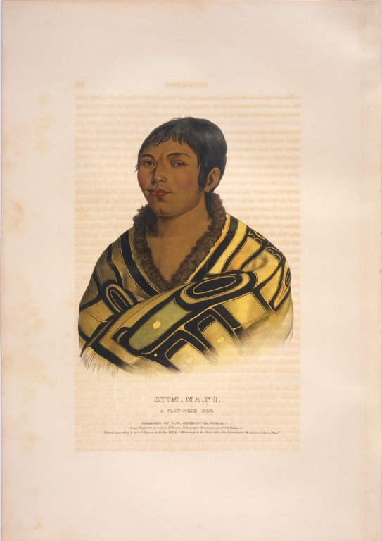 [History of the Indian Tribes of North America, Stum-ma-nu, a Flat-Head boy]