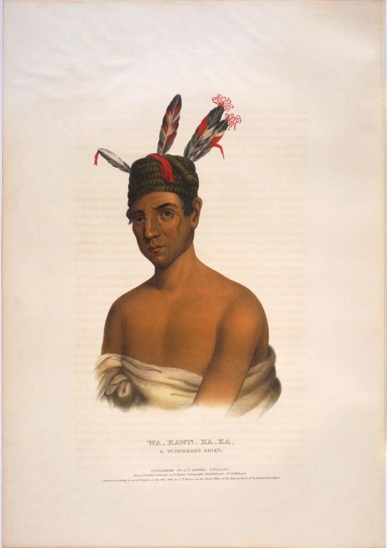 [History of the Indian Tribes of North America, Wa-kawn-ha-ka, a Winnebago chief]