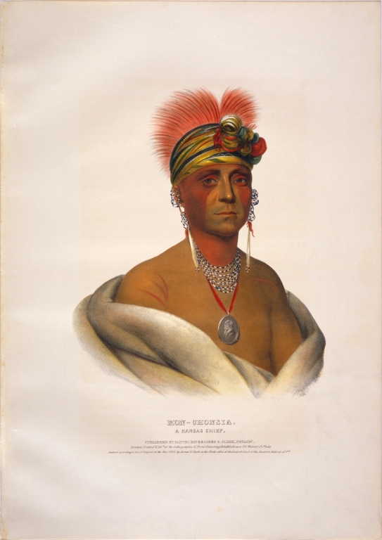 [History of the Indian Tribes of North America, Mon-chonsia, a Kansas chief]