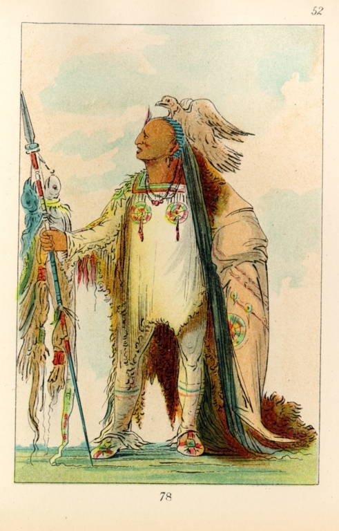[The Manners, Customs, and Condition of the North American Indians., Two Crows, a Band chief]