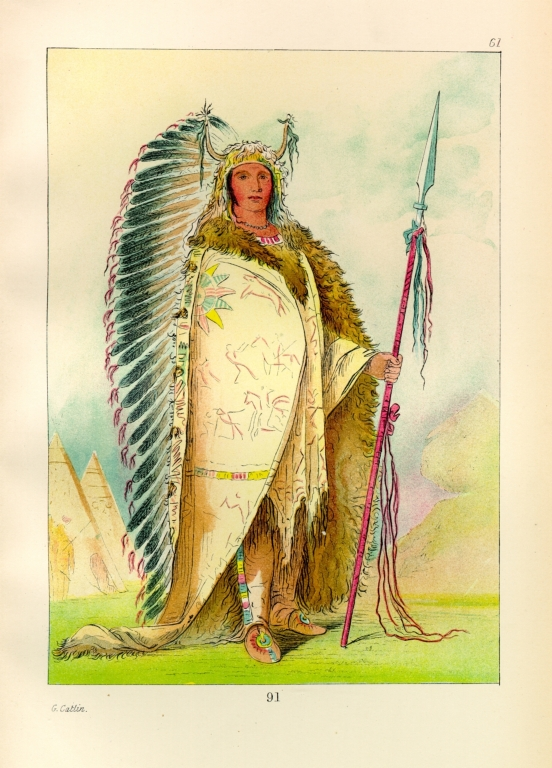 [The Manners, Customs, and Condition of the North American Indians., Black Rock, a Two Kettle (?) chief]