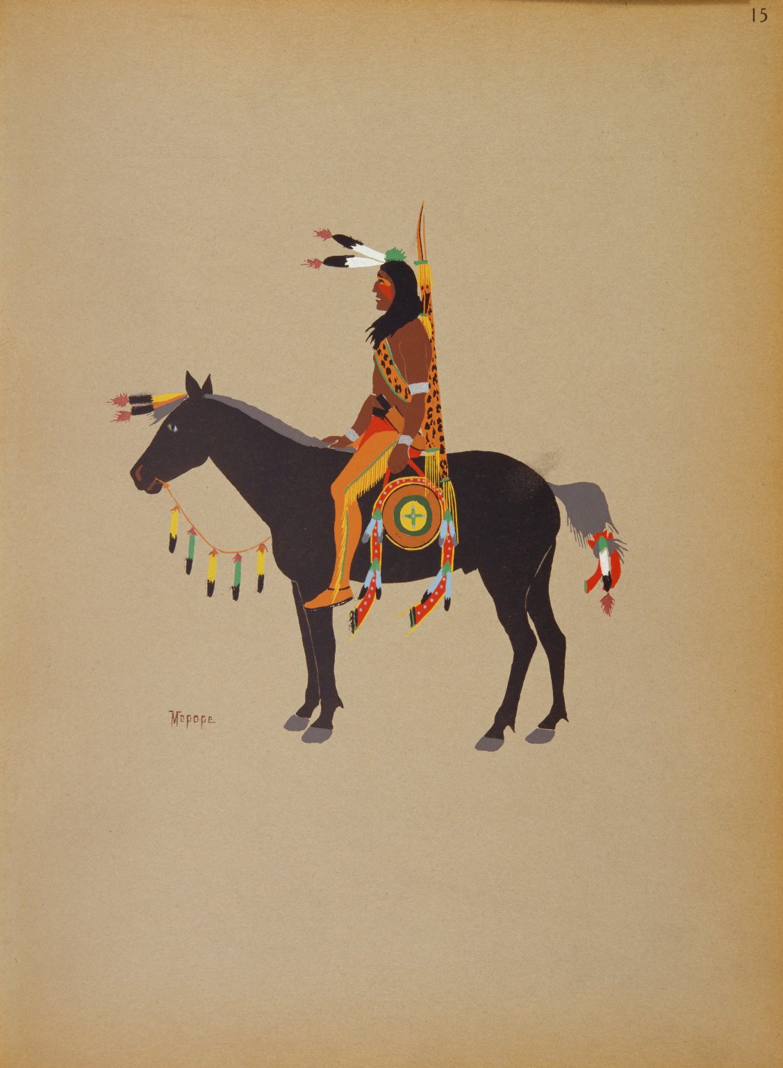 Kiowa Warrior on Horseback