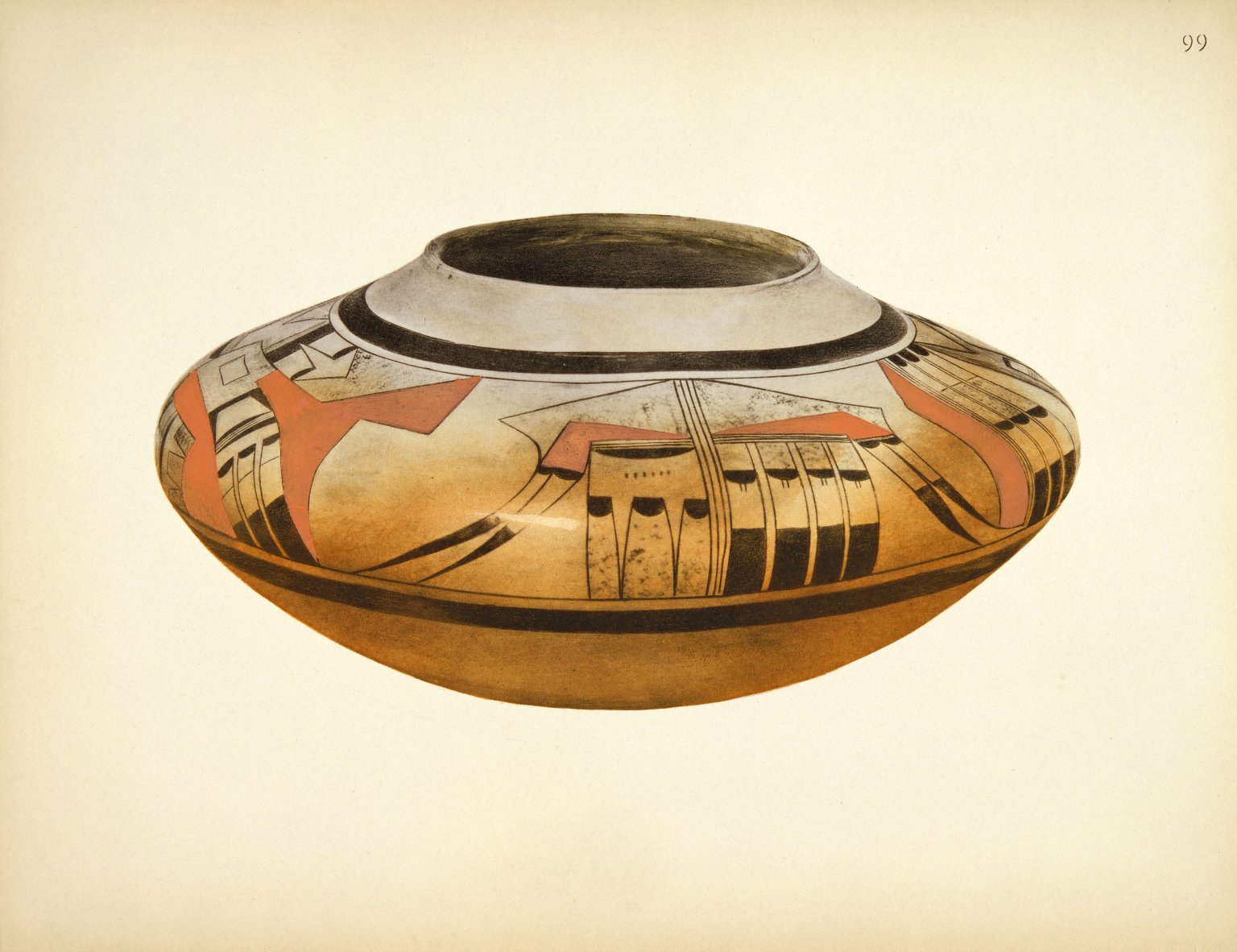 Pueblo Indian Pottery; 50 reproductions in color from specimen in the famous collection of the Indian arts fund