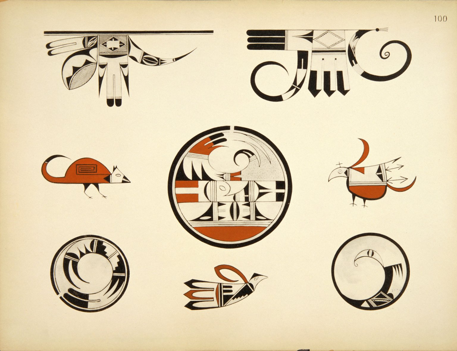 Group of Designs from Antique and Modern Hopi Ware