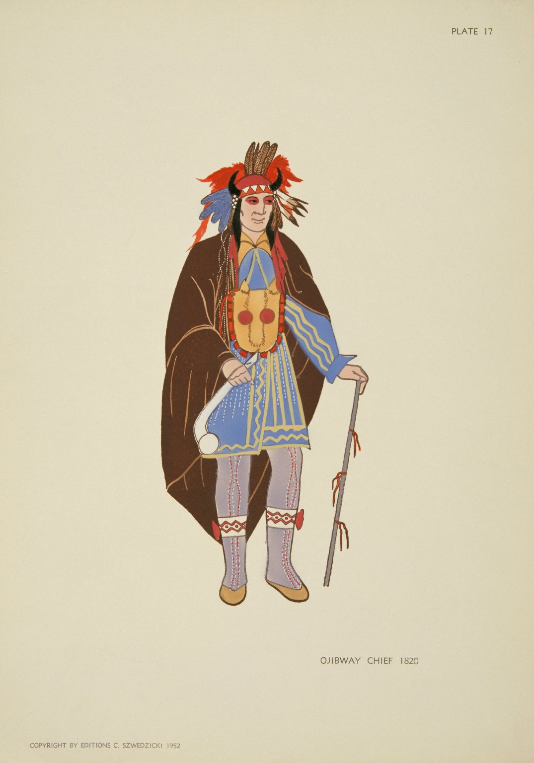 OJIBWAY CHIEF 1820