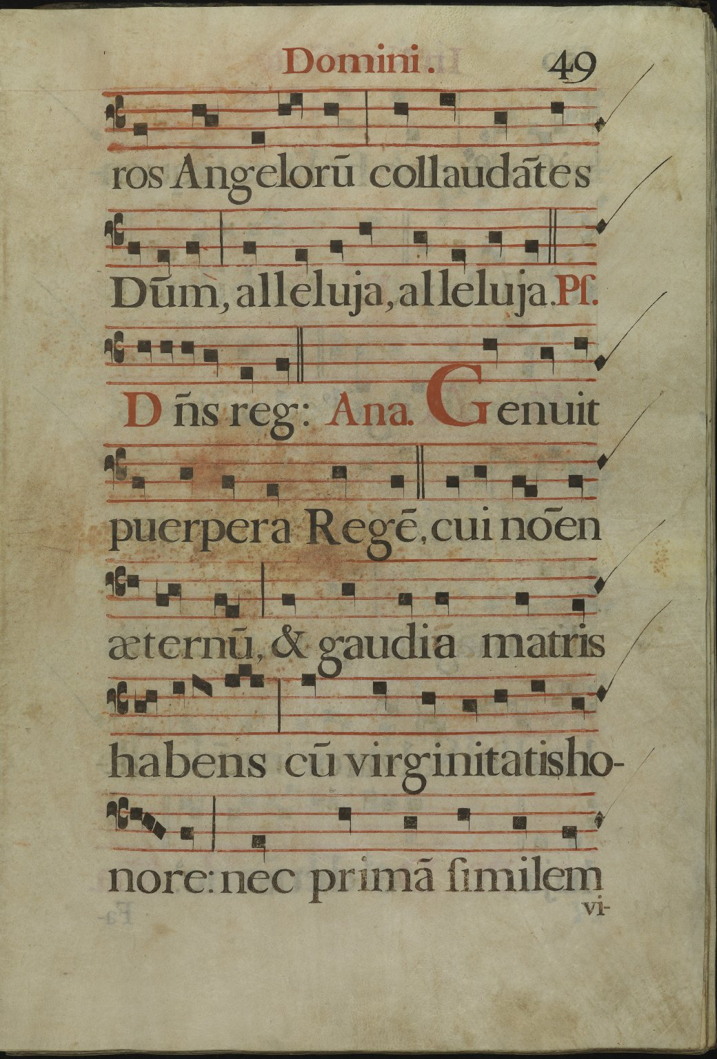 The Spanish Antiphoner. Page 49