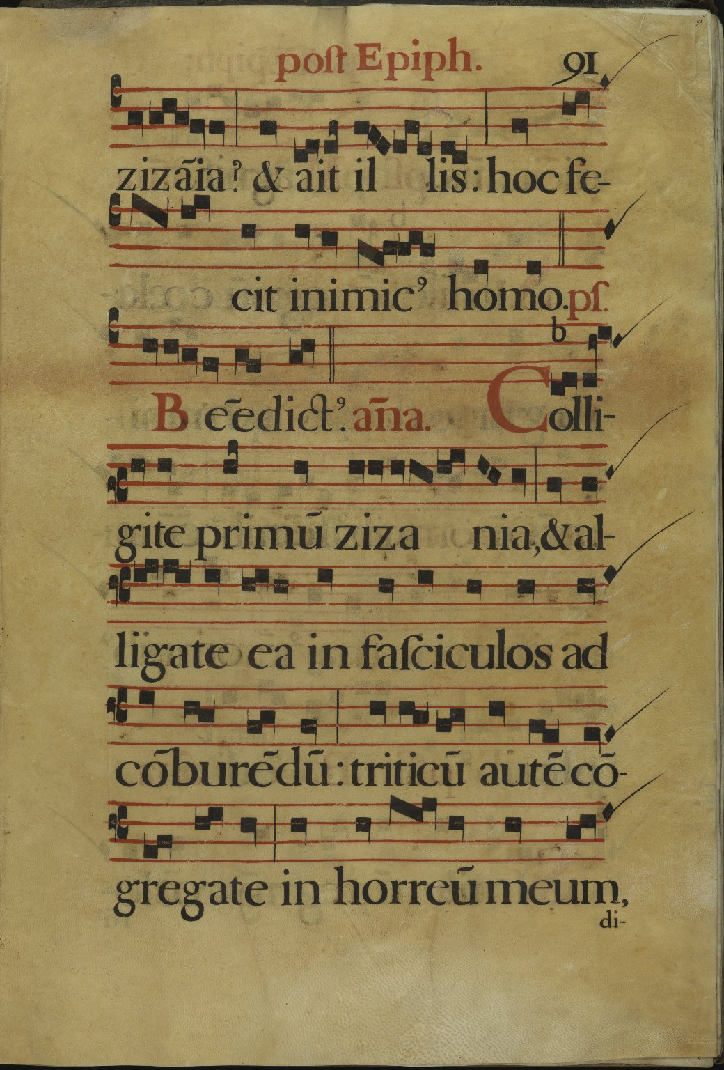 The Spanish Antiphoner. Page 91