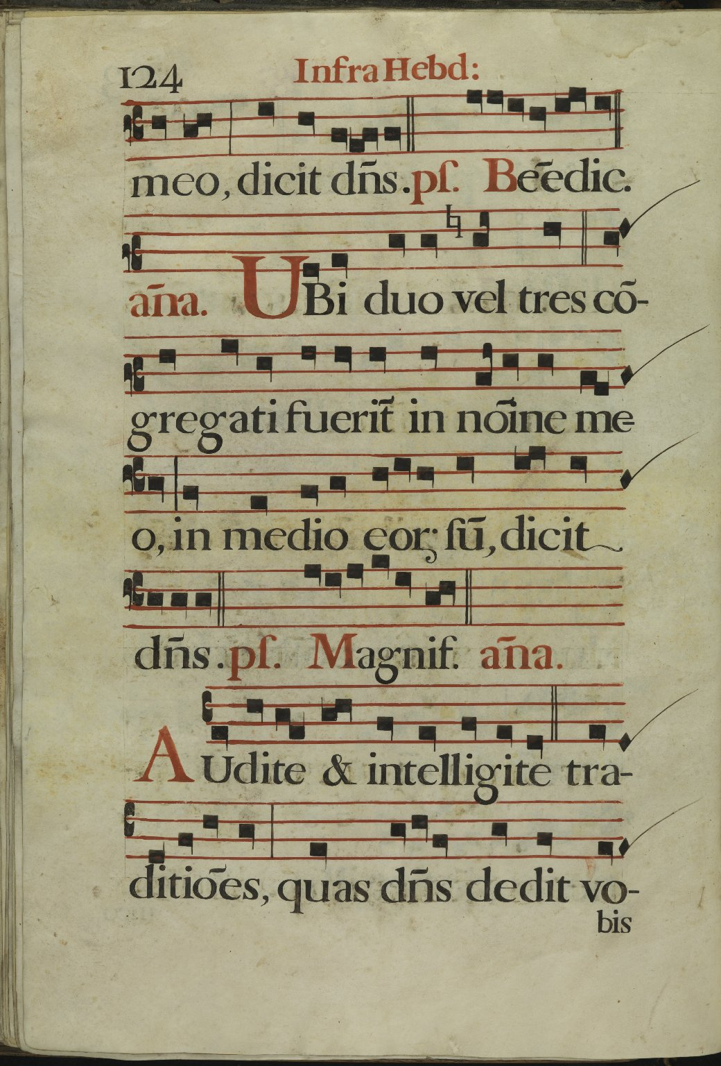 The Spanish Antiphoner. Page 124