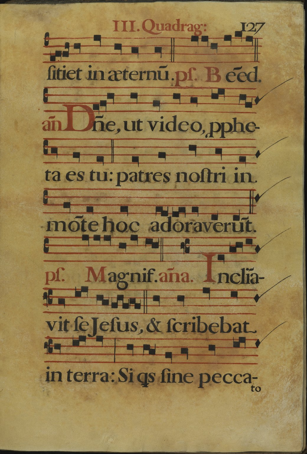 The Spanish Antiphoner. Page 127