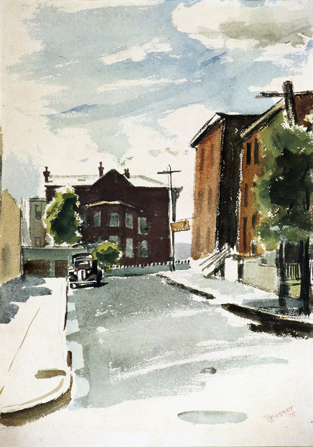 Street Scene with Car