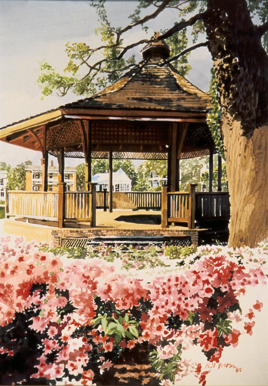 Gazebo with Flowers
