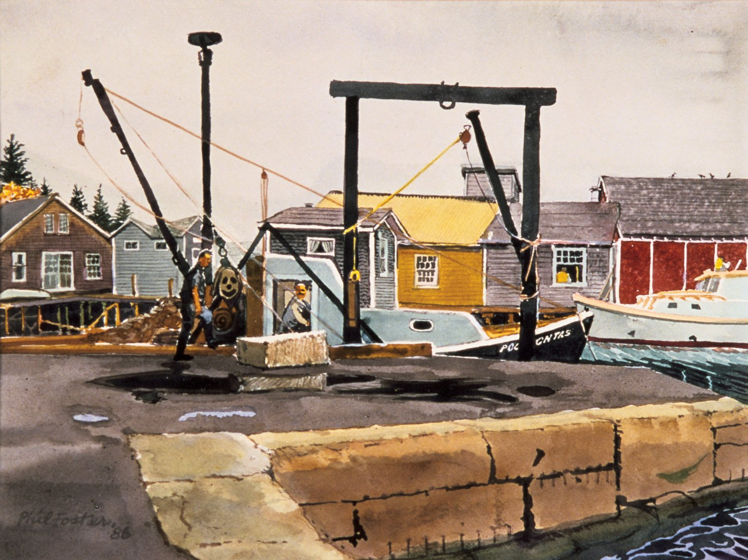 Loading Dock with Boathouses