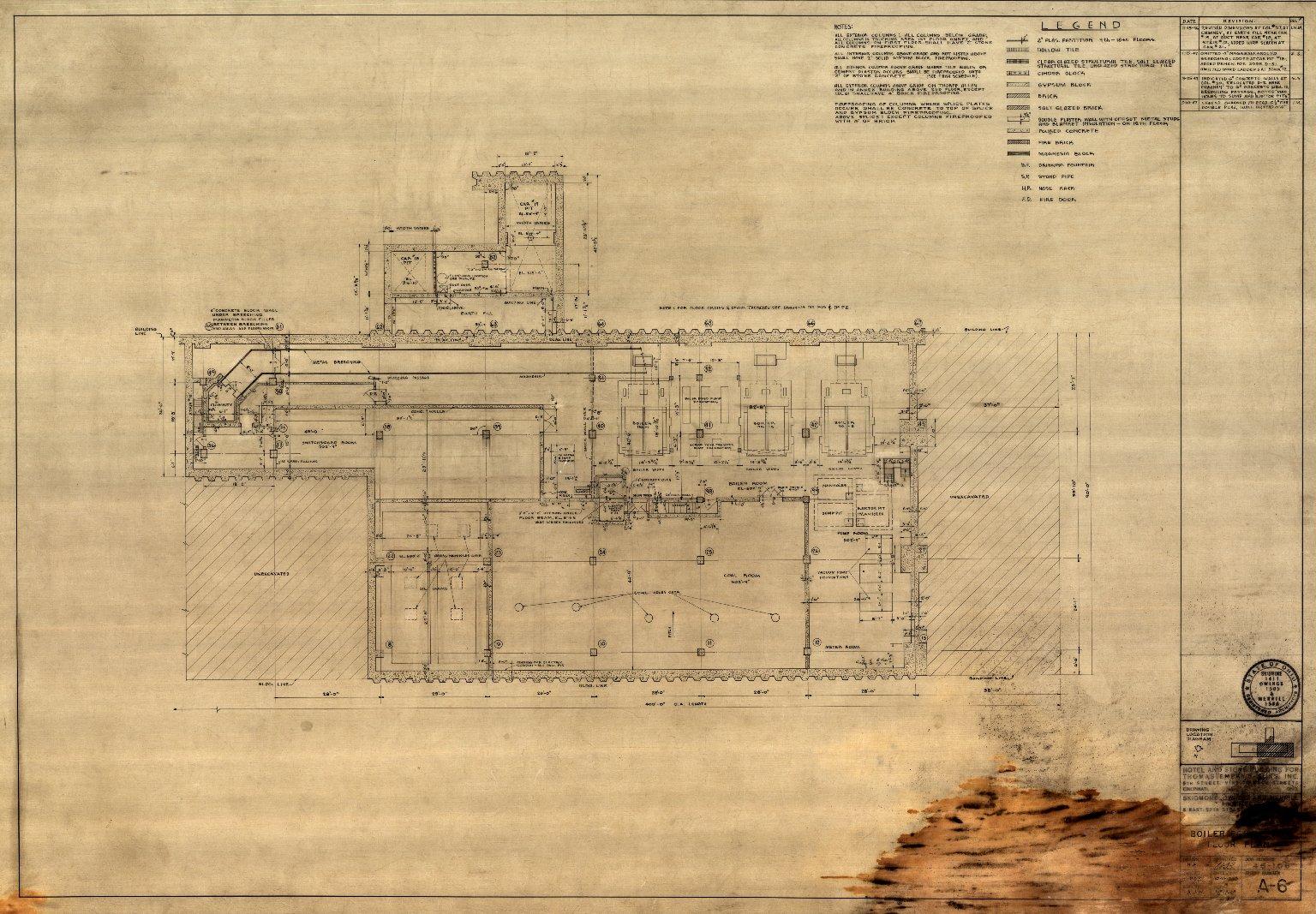 Boiler Room Level Floor Plan (A 6)