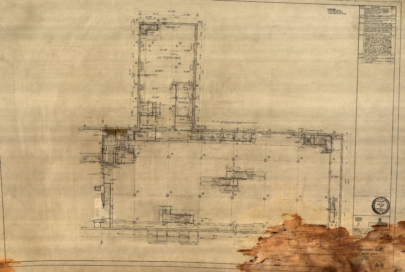 Basement Plan West Half (A 9)