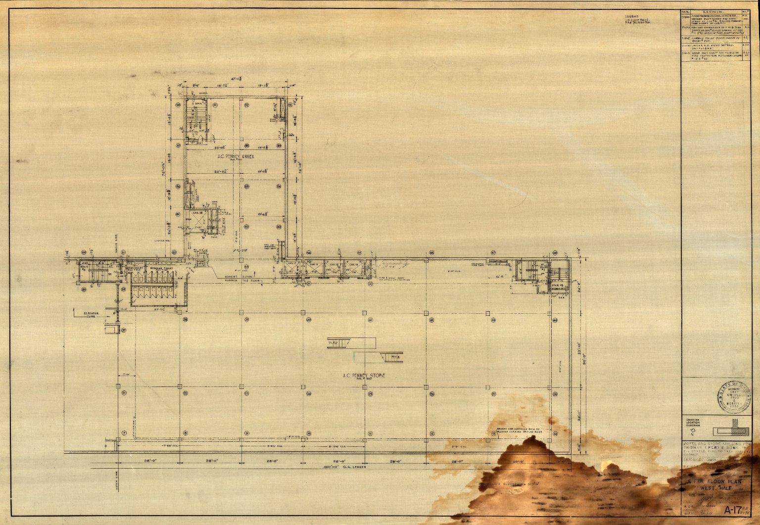 Fifth Floor Plan West Half (A 17)