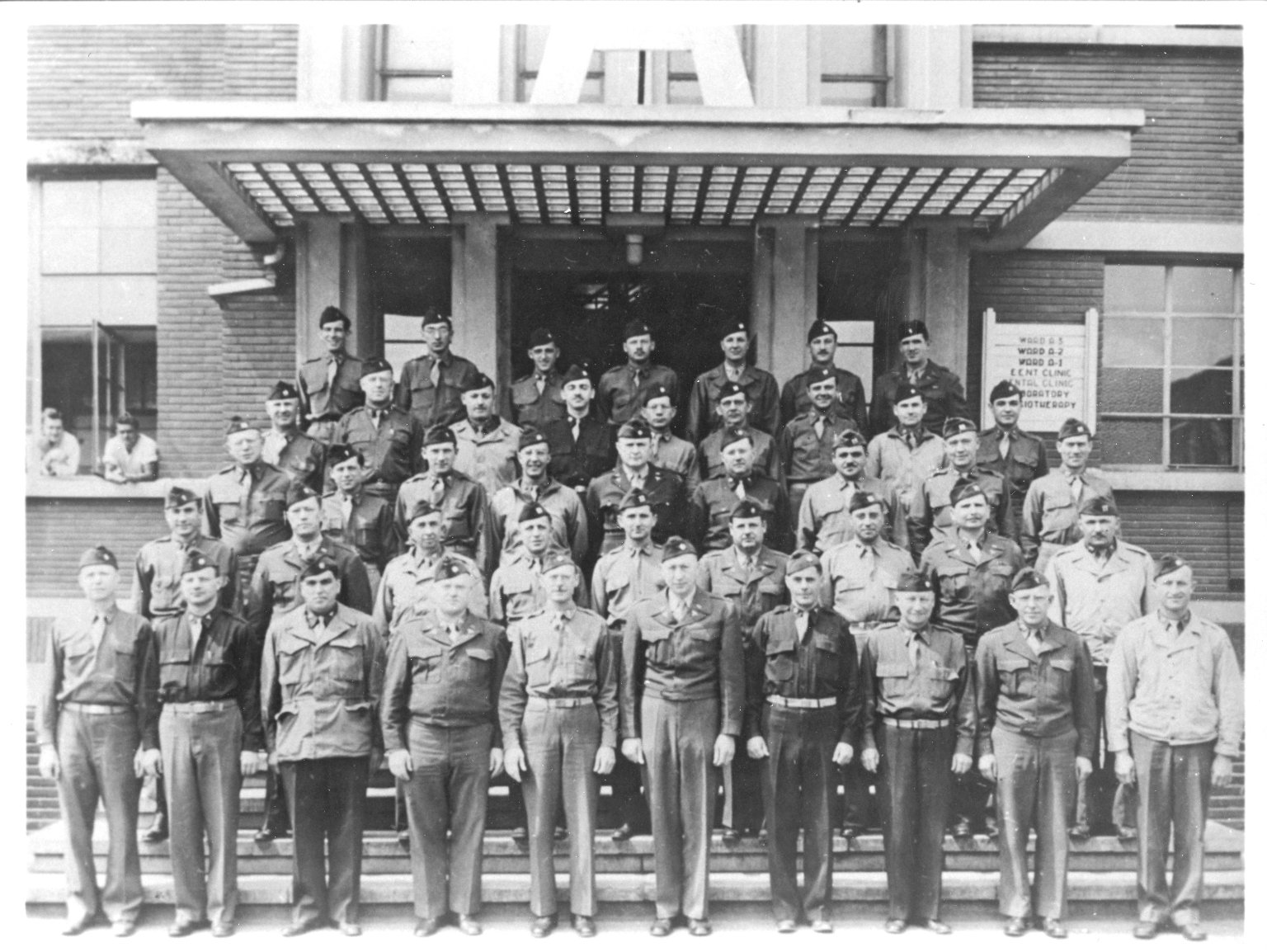 Tongres, Belgium. Officers, Group Photo