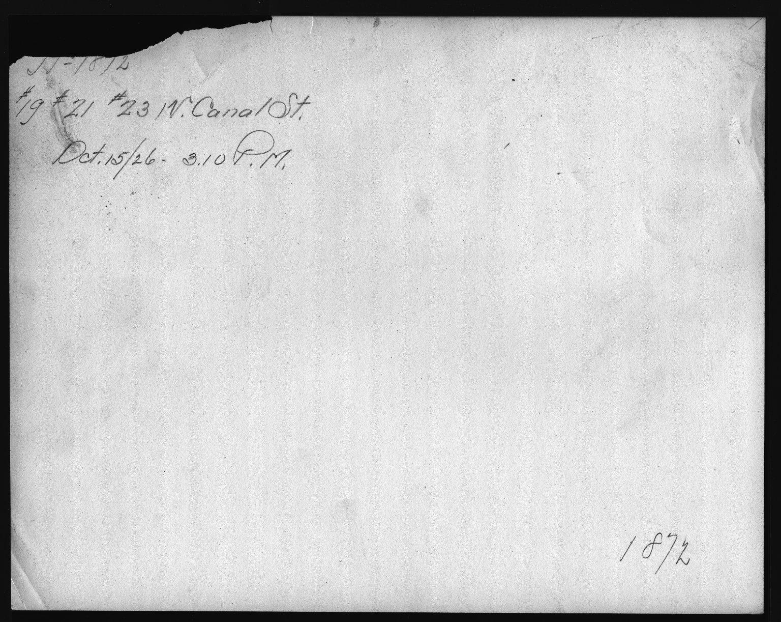 Rapid Transit Photographs -- Box 12, Folder 19 (October 15, 1926 - November 8, 1926) -- print, 1926-10-15, 3:10 P.M. (back of photograph)