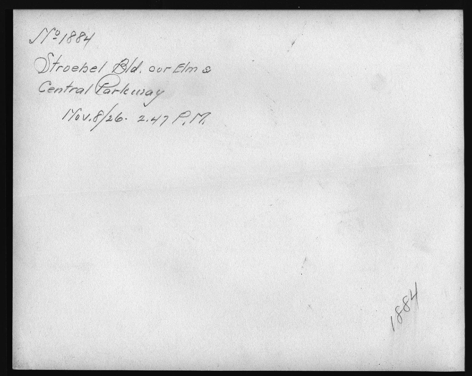 Rapid Transit Photographs -- Box 12, Folder 21 (November 8, 1926 - November 12, 1926) -- print, 1926-11-08, 2:47 P.M. (back of photograph)