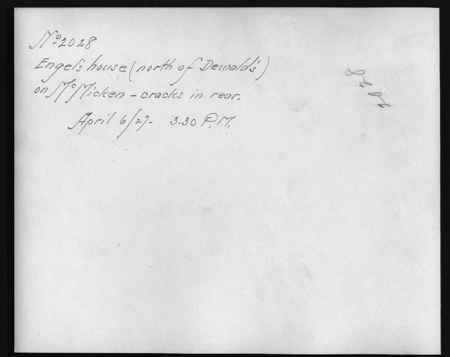 Rapid Transit Photographs -- Box 12, Folder 34 (April 6, 1927) -- print, 1927-04-06, 3:30 P.M. (back of photograph)