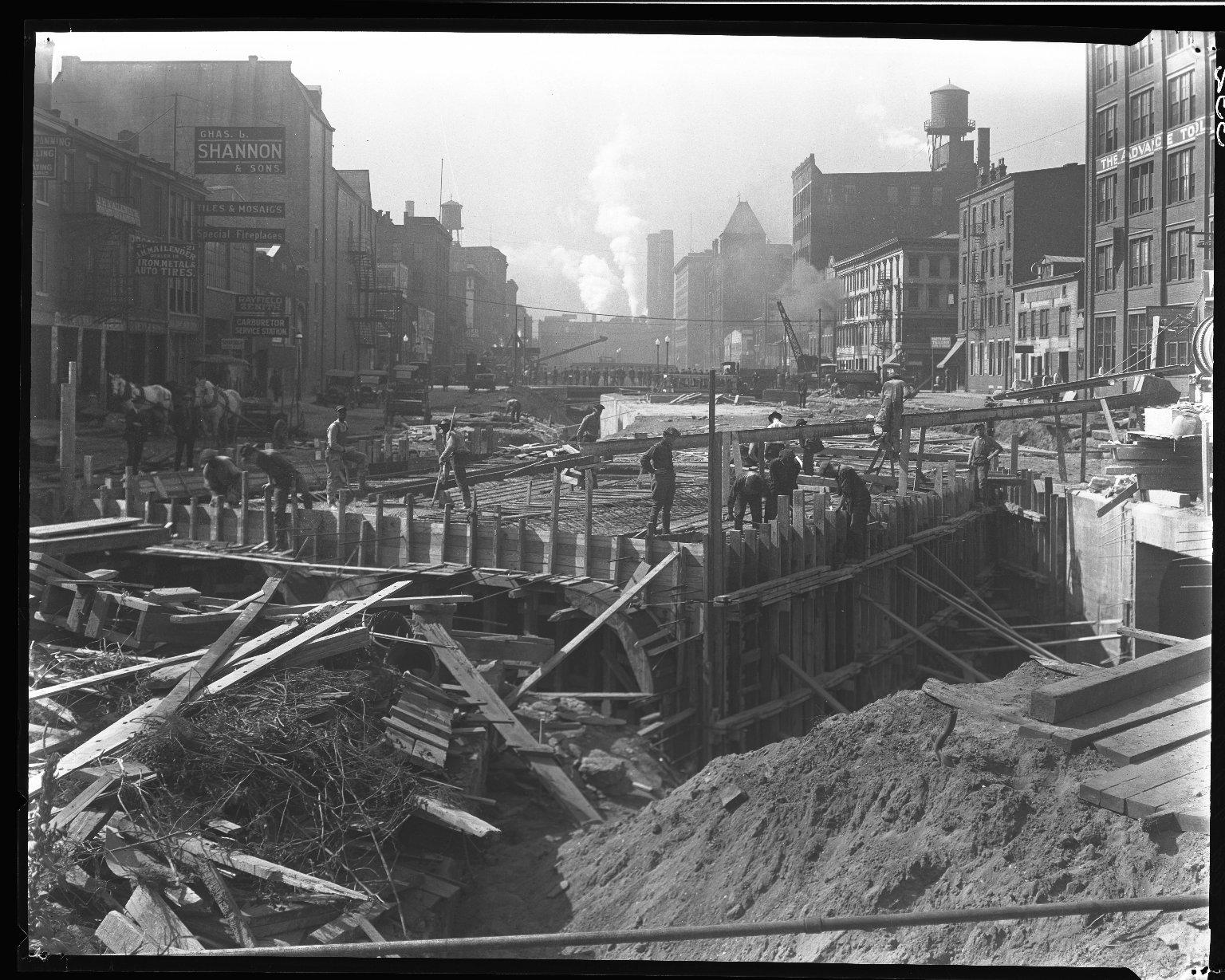 Rapid Transit Photographs -- Box 14, Folder 18 (October 7, 1920 - October 13, 1920) -- negative, 1920-10-07, 11:34 A.M.