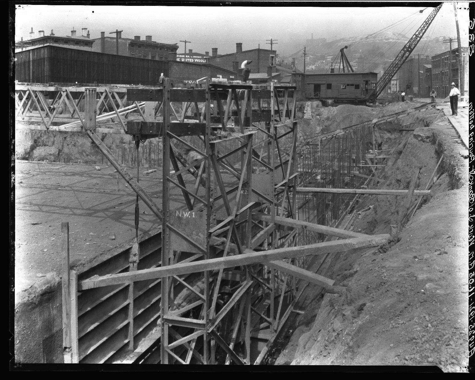 Rapid Transit Photographs -- Box 16, Folder 09 (August 25, 1921 - August 26, 1921) -- negative, 1921-08-25, 11:05 A.M.
