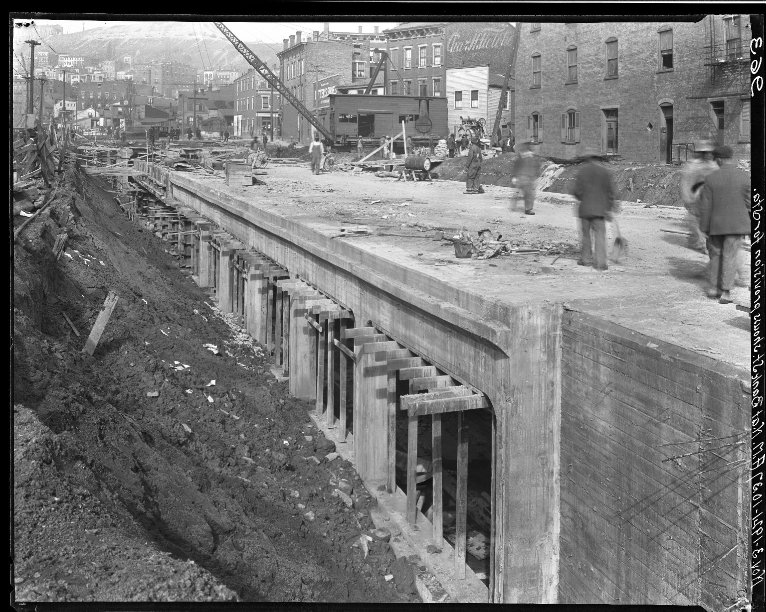 Rapid Transit Photographs -- Box 16, Folder 25 (November 3, 1921) -- negative, 1921-11-03, 10:37 A.M.
