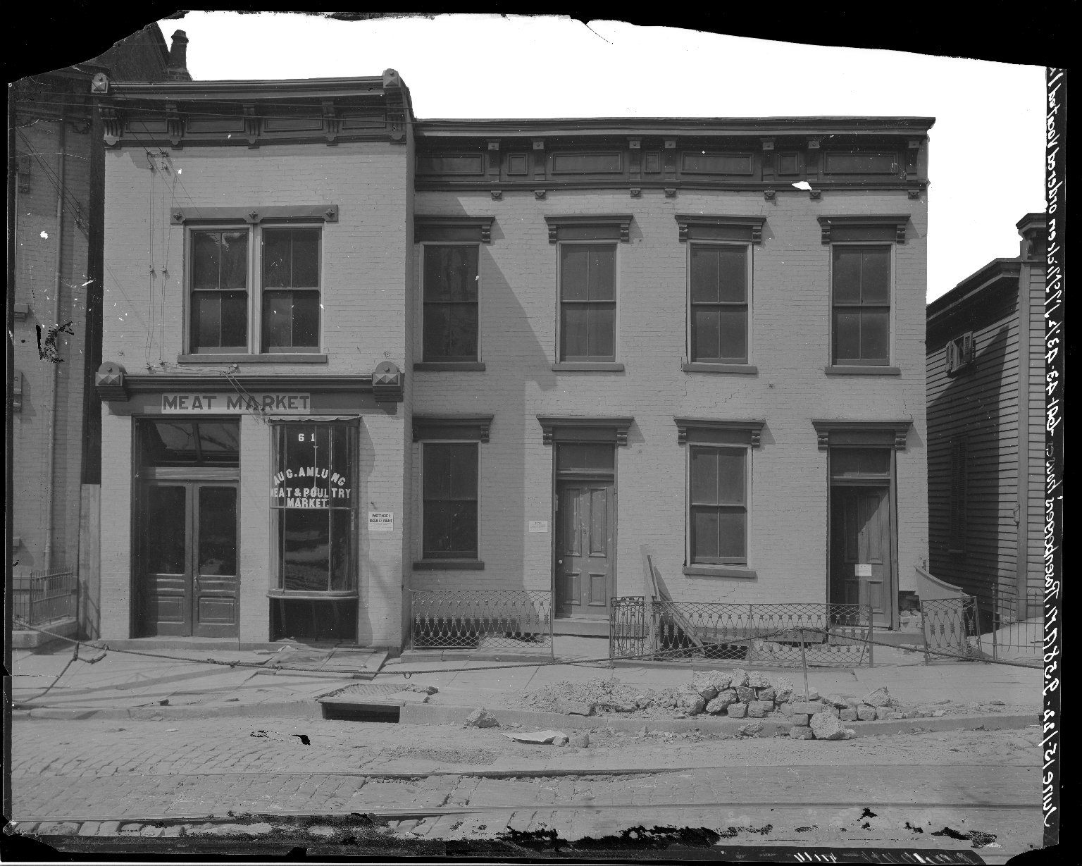 Rapid Transit Photographs -- Box 17, Folder 19 (June 14, 1922 - June 16, 1922) -- negative, 1922-06-15, 9:58 A.M.
