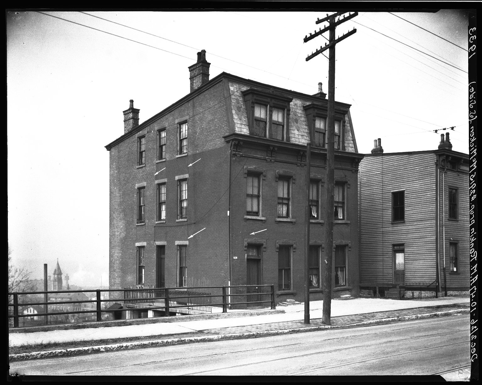 Rapid Transit Photographs -- Box 19, Folder 10 (December 2, 1926) -- negative, 1926-12-02, 10:47 A.M.