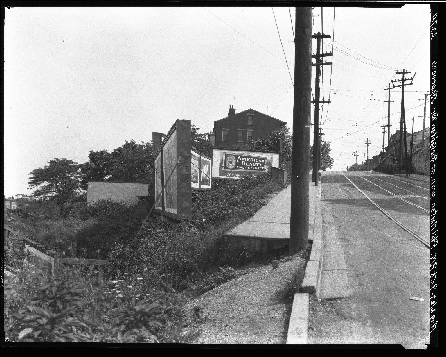 Rapid Transit Photographs -- Box 20, Folder 14 (August 2, 1927) -- negative, 1927-08-02, 9:58 A.M.