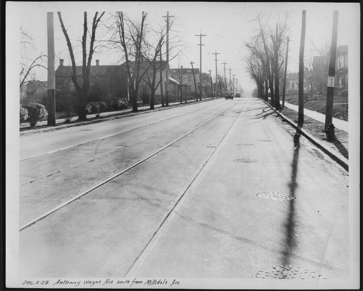 Street Improvement Photographs -- Box 21, Folder 06 (Anthony Wayne Avenue) -- print, 1928-12-05