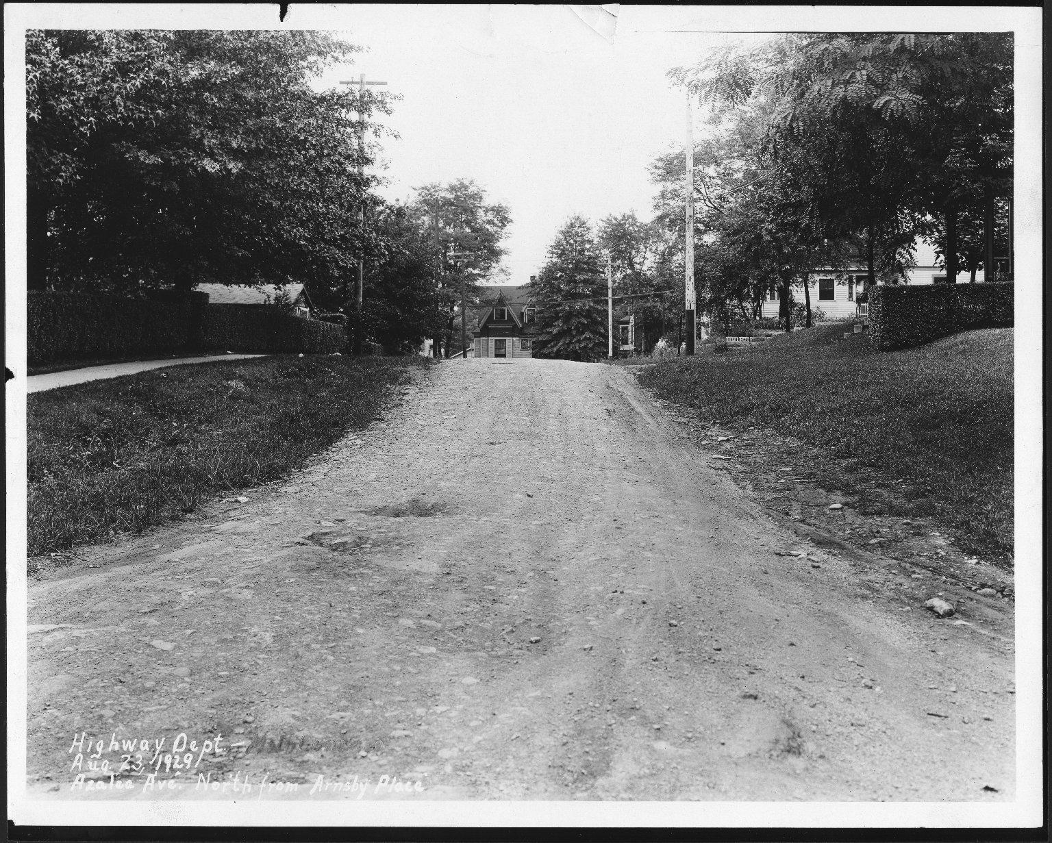 Street Improvement Photographs -- Box 21, Folder 12 (Azalea Avenue) -- print, 1929-08-23
