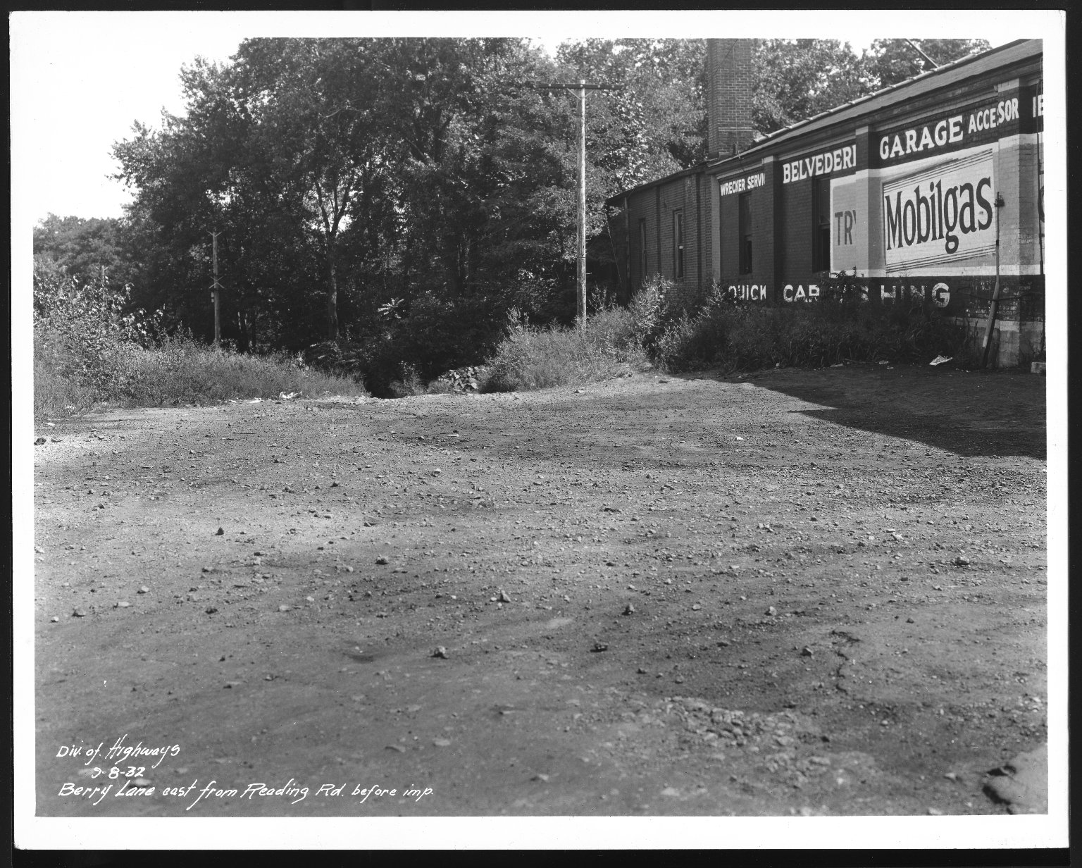 Street Improvement Photographs -- Box 21, Folder 17 (Barry Lane) -- print, 1932-09-08