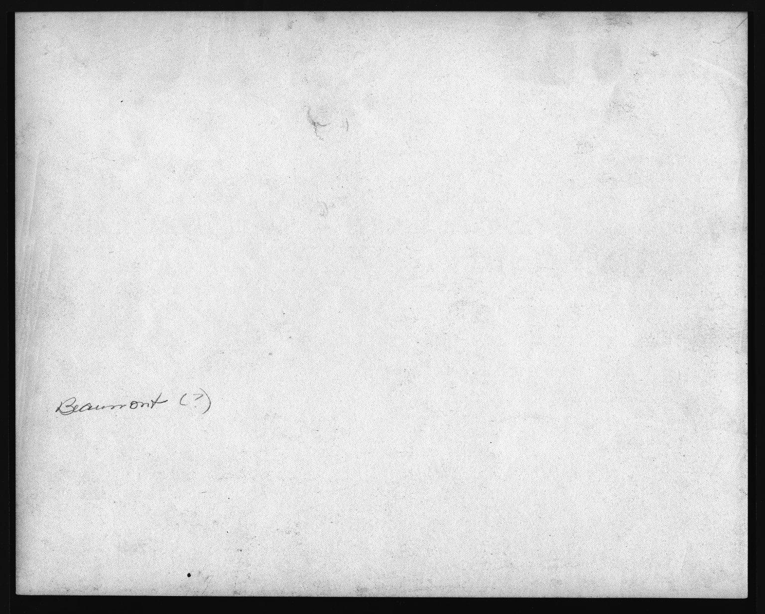 Street Improvement Photographs -- Box 21, Folder 22 (Beaumont Place) -- print, 1928 (back of photograph)