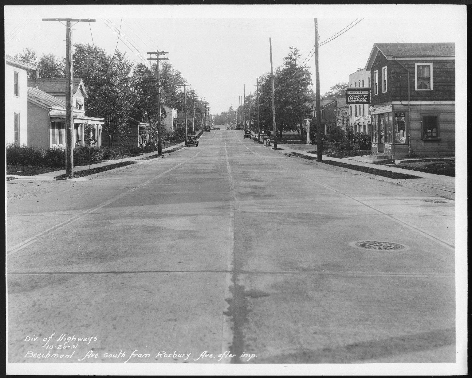 Street Improvement Photographs -- Box 21, Folder 26 (Beechmont Avenue) -- print, 1931-10-20