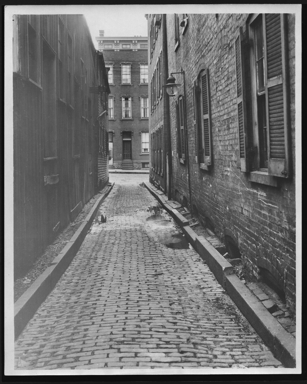 Street Improvement Photographs -- Box 21, Folder 39 (Bright Alley) -- print, 1921