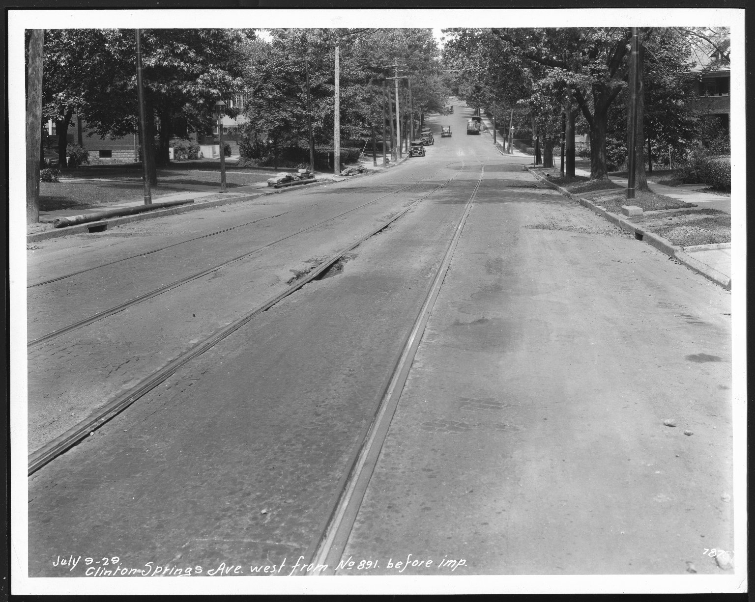 Street Improvement Photographs -- Box 21, Folder 62 (Clinton Springs) -- print, 1929-07-09