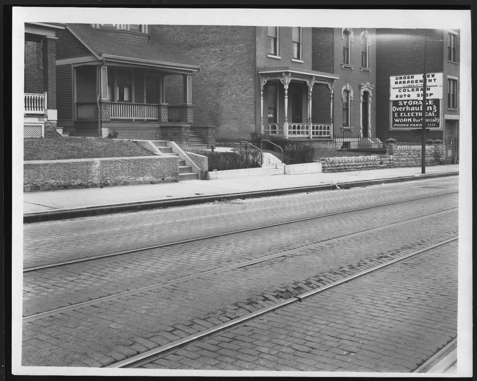 Street Improvement Photographs -- Box 21, Folder 65 (Colerain Avenue) -- print, 1923-03-05