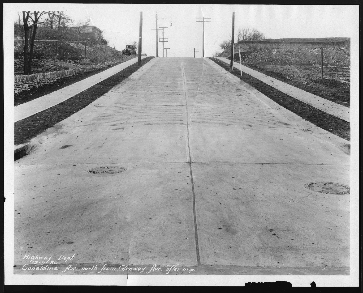 Street Improvement Photographs -- Box 21, Folder 74 (Considine Avenue) -- print, 1930-12-09