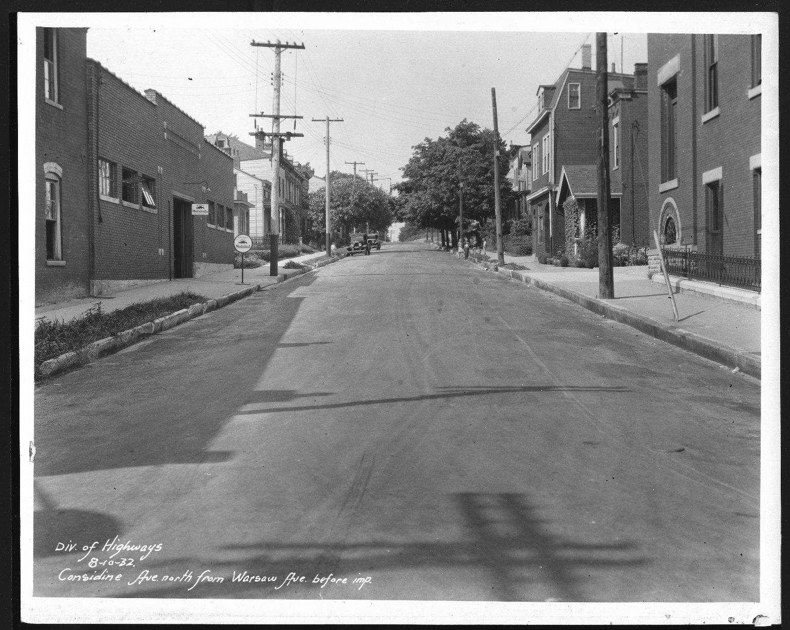 Street Improvement Photographs -- Box 21, Folder 74 (Considine Avenue) -- print, 1932-08-10
