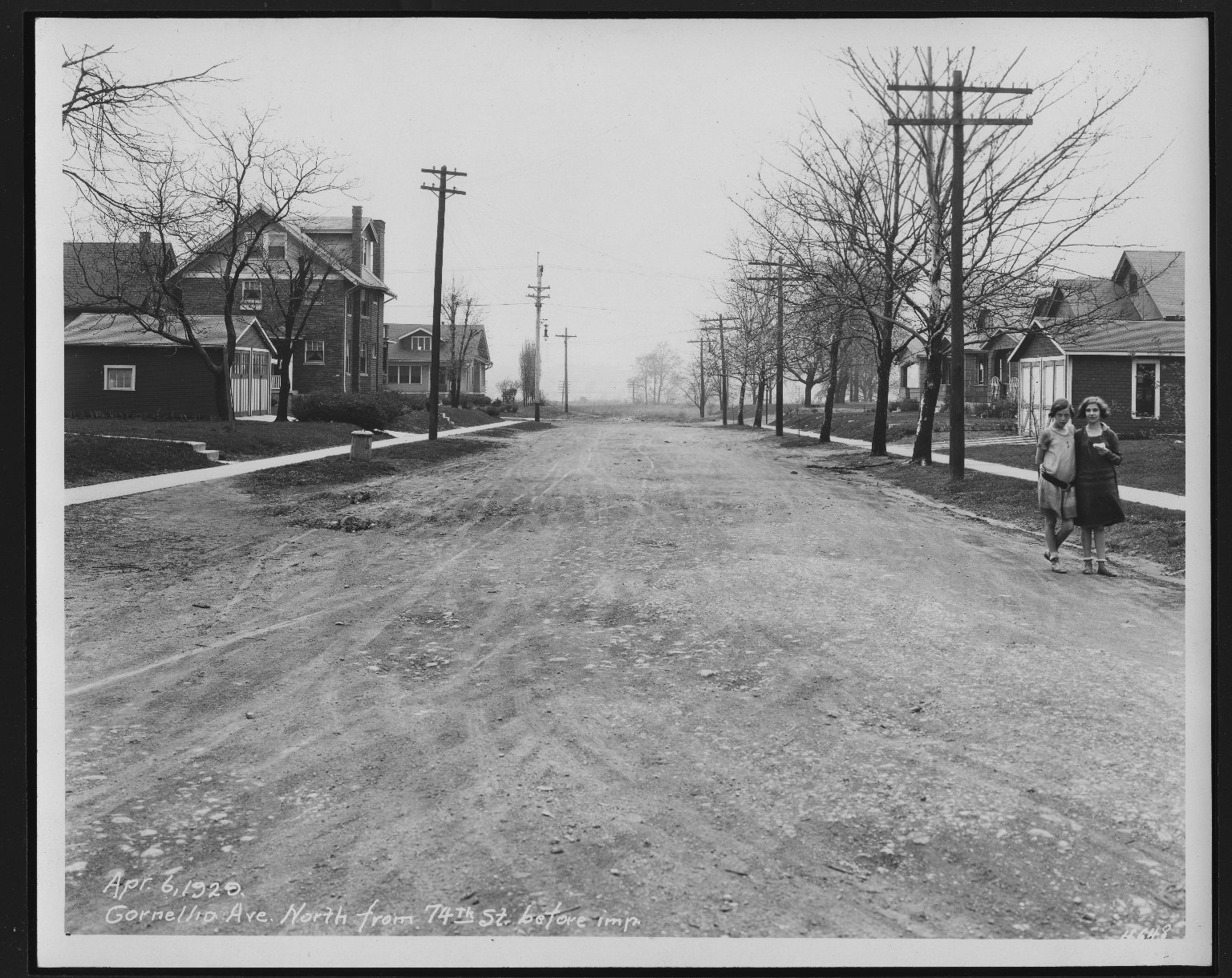 Street Improvement Photographs -- Box 22, Folder 01 (Cornelia Avenue) -- print, 1929-11-18