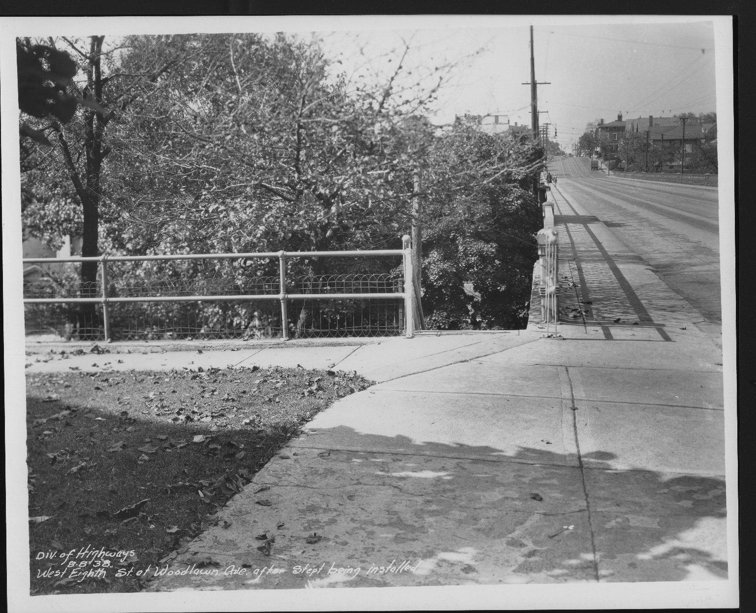 Street Improvement Photographs -- Box 22, Folder 65 (Eighth Street) -- print, 1938-08-08